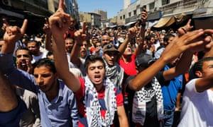 Gaza protests Jordan
