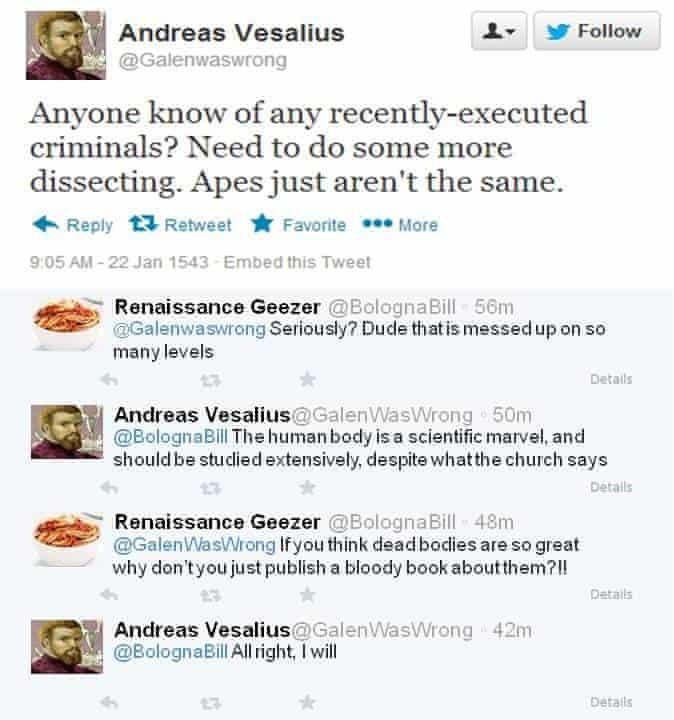 Andreas Vesalius on Twitter