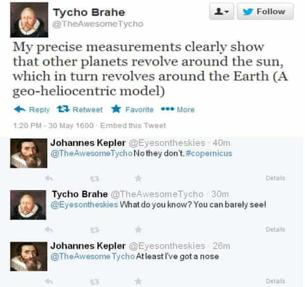 Tycho Brahe on Twitter