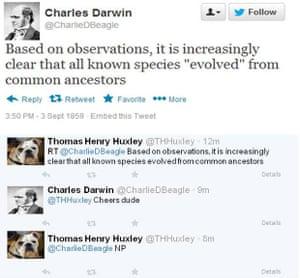 Charles Darwin on Twitter