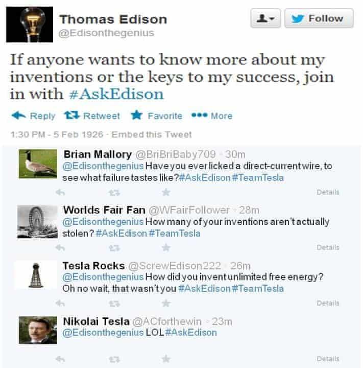 Thomas Edison on Twitter
