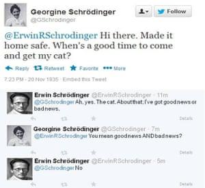 Erwin Schrodinger on Twitter