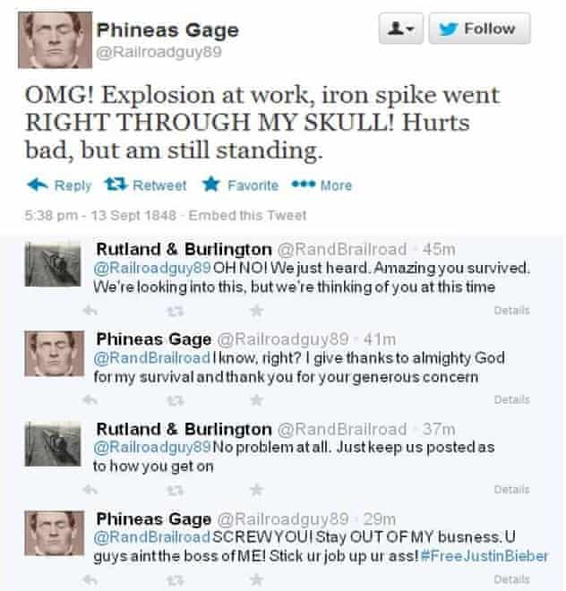 Phineas Gage on Twitter