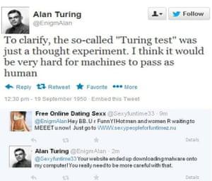 Alan Turing on Twitter.