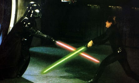 Lightsaber action in Return of the Jedi