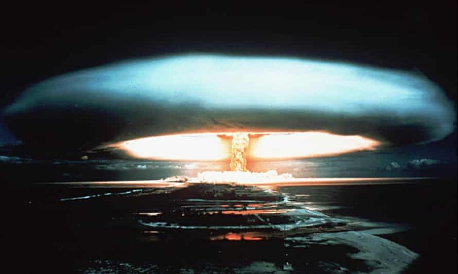 A nuclear bomb blast