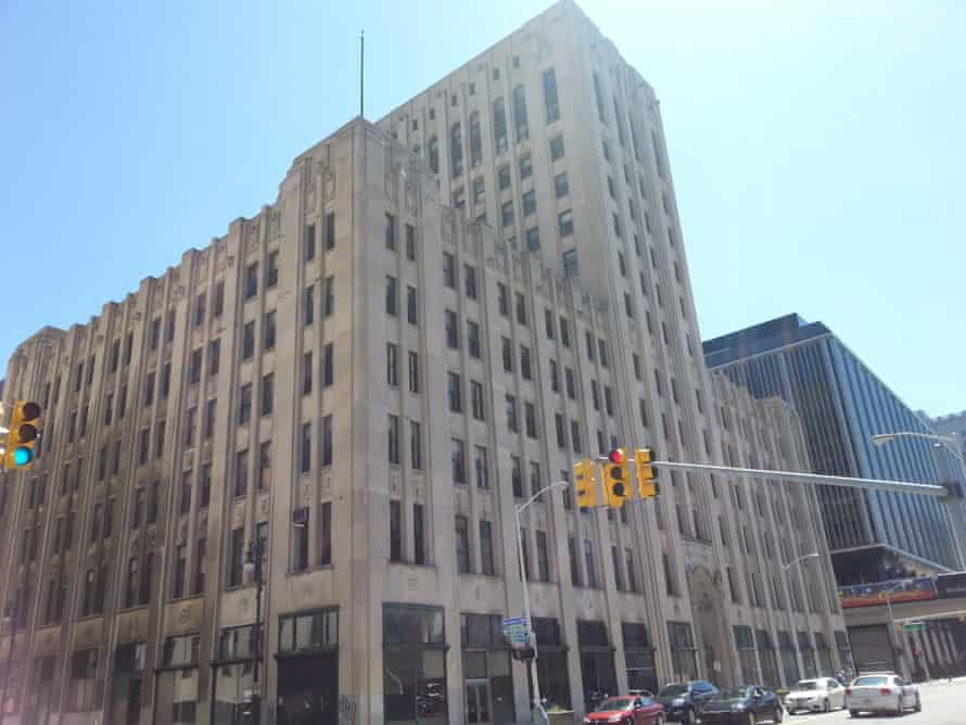 The 302,000-square-foot Detroit Free Press building,  abandoned since 1998.