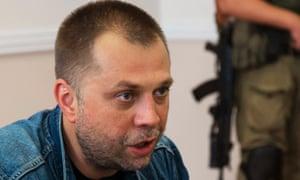 Alexander Borodai, prime minister of the self proclaimed Donetsk People's Republic