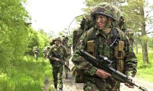 Infantry training at Catterick Garrison