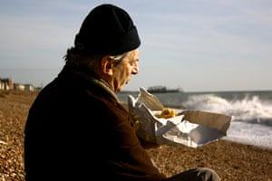 Munch: A solitary diner on Brighton beach.