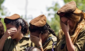 Israeli soldiers mourn
