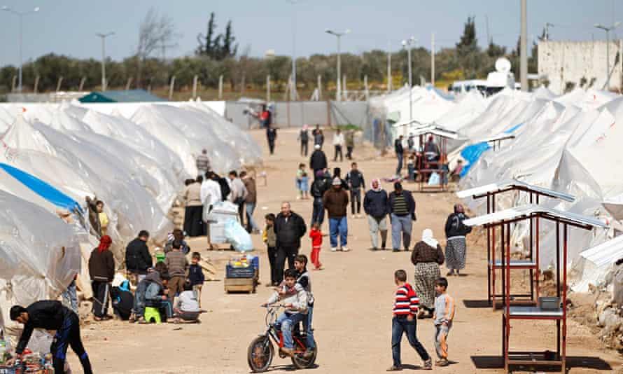 Syrian refugees at Reyhanli refugee camp on the Syria-Turkey border