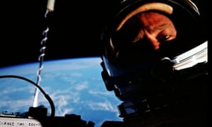 Selfie by Buzz Aldrin on the Gemini 12 mission, 1966.