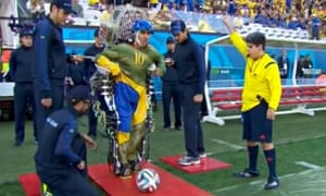 Paraplegic Juliano Pinto kicks off this year's World Cup