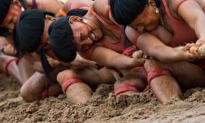 Brazilian indigenous women of the Enawen