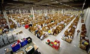 Amazon fulfilment centre prepares for Christmas, Swansea, Britain - 13 Dec 2012