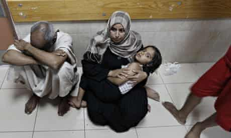 Palestinian patients in al-Aqsa hospital