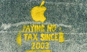 Apple's tax avoidance policy - Dublin street art protest