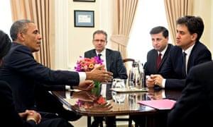 Barack Obama and Ed Miliband