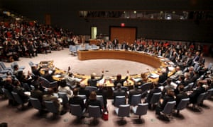 Members of the security council vote on a resolution concerning access to the crash site of Malaysia Airlines flight MH17 during a security council meeting at United Nations headquarters, Monday, July 21, 2014. The resolution was adopted by a unanimous vote.