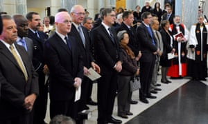 Ambassdors form affected countries during the signing of a condolence book at Parliament House in Canberra, Tuesday, July 22, 2014.