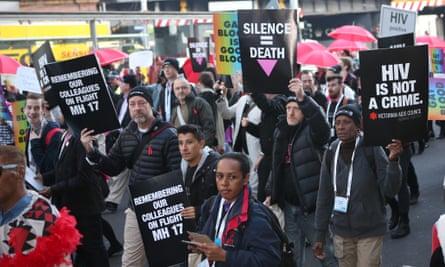 HIV/Aids protest