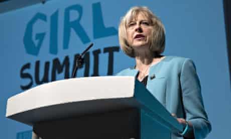 Theresa May at the Girl Summit