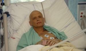 Alexander Litvinenko in intensive care before his death in 2006.