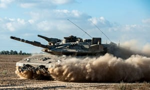 A tank in southern Israel, near Gaza border