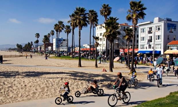 Cycling Venice Beach Los Angeles