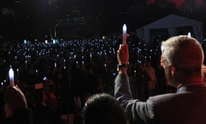 People attend a candlelight vigil to remember those who lost their lives on Malaysia Airlines flight MH17 in Melbourne