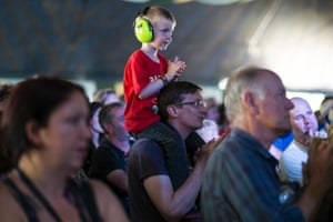 Young music fan at the BBC Radio 6 Music Stage