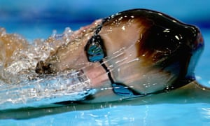 Liam Tancock of England in action during a training session at Tollcross in Glasgow - where the 20th Commonwealth Games will open tomorrow