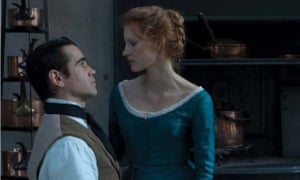 Miss Julie, starring Colin Farrell and Jessica Chastain