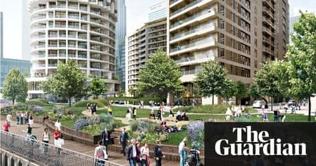 Canary Wharf spreads east with new towers and 3,000 homes planned |  Business | The Guardian