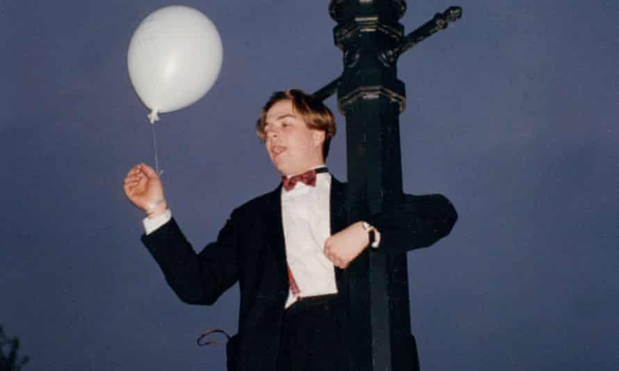 Oxford University student at the May Ball.