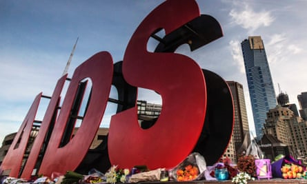 MH17: Flowers laid at sign for 20th International Aids conference in Melbourne