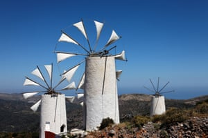 Windmills on the Lasithi plateau, Crete