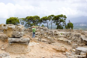 The ancient city of Phaistos.