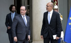 French President Francois Hollande (left).