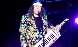 Weird Al Yankovic in concert.