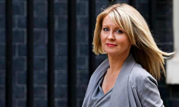 Esther McVey arrives at 10 Downing Street