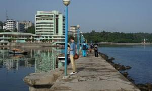The Wonsan lighthouse boardwalk