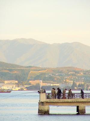 Fishing in Wonsan, North Korea