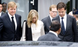 King Willem Alexander, Queen Maxima and Dutch Prime Minister Mark Rutte.