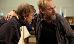 Robert Menzies and Hugo Weaving in rehearsal for STC's Macbeth