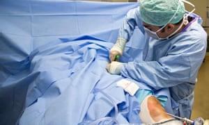 Pioneering knee surgery