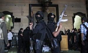 Egypt policeman arms trade