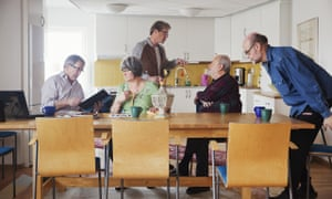 residents in the common room