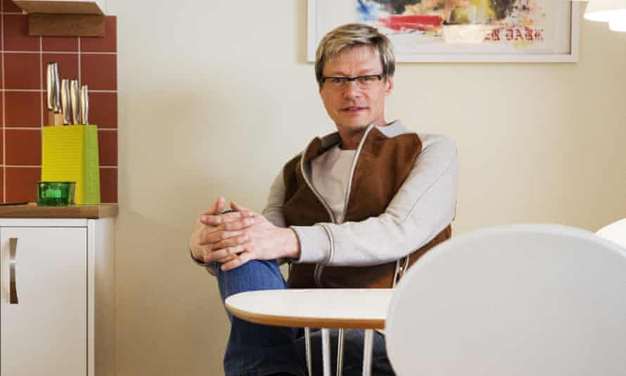 A place to call home: Regnbågen founder Christer Fällman, 55, is also its youngest resident.